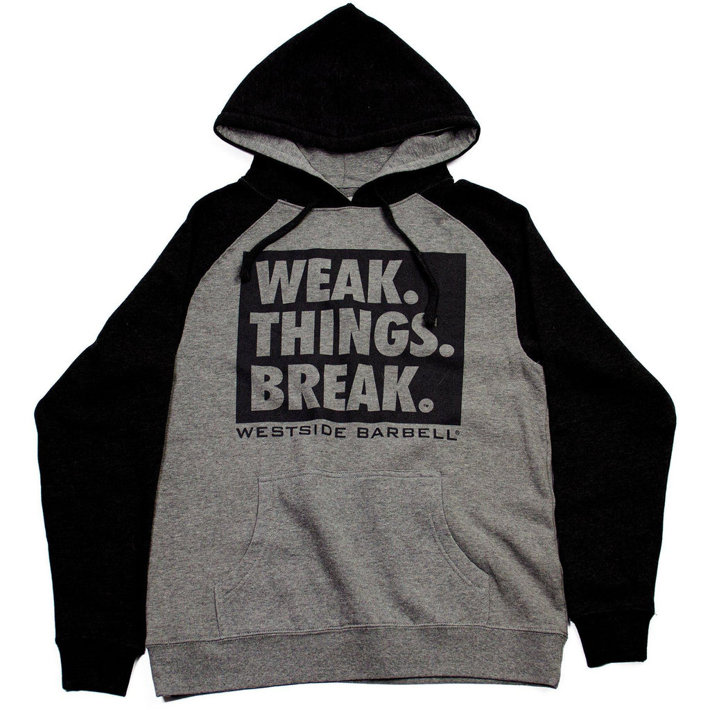 WSBB Mens Weak Things Break Hooded Sweatshirt