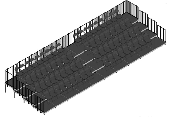 Tiered Seating 4 Rows x 40'