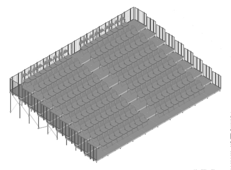 Tiered Seating 9 Rows x 40'