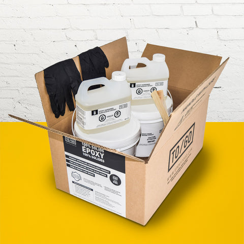 Safety Yellow 100% Solid Epoxy Kit 4,5L Includes : 1x (842315052011) & 1x (BASE-L-330-500ML)