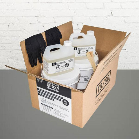 # 885 DOUBLE KIT (500 sq/ft) Grey #388/885 100% Solid Epoxy Includes 2 x 4,5L : 2x Clear (842315052011) & 2x Dye (BASE-885-500ML)