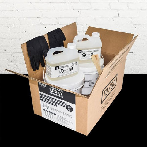 DOUBLE KIT (500 sq/ft) Black 100% Solid Epoxy Includes 2 x 4,5L : 2x Clear (842315052011) & 2x Dye (BASE-459-500ML)