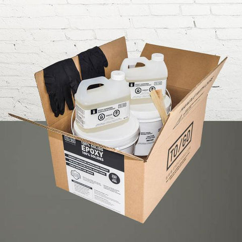 DOUBLE KIT (500 sq/ft) Base 305 Grey 100% Solid Epoxy Includes 2 x 4,5L : 2x Clear (842315052011) & 2x Dye (BASE-305-500ML)