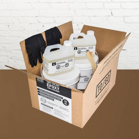 # 248 DOUBLE KIT (500 sq/ft) Light Brown 100% Solid Epoxy Includes 2 x 4,5L : 2x Clear (842315052011) & 2x Dye (BASE-248-500ML)