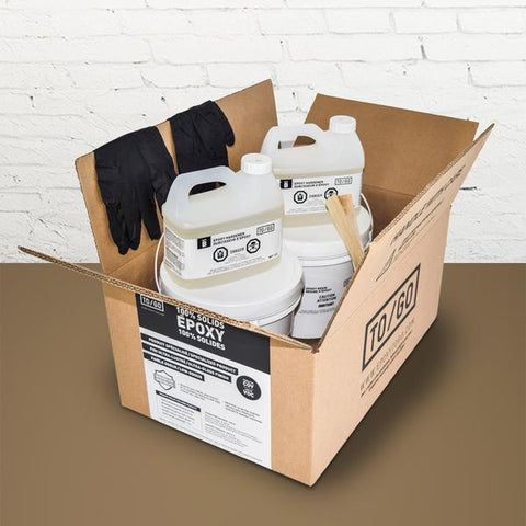 DOUBLE KIT (500 sq/ft) Beige 100% Solid Epoxy Includes 2 x 4,5L : 2x Clear (842315052011) & 2x Dye (BASE-437-500ML)
