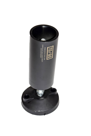 Black adjustable stage deck leg