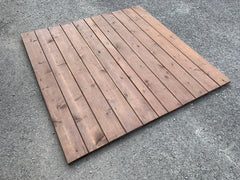 Used Red Cedar Deck Tile (pre-oiled in tabac) (sold per sq.ft.)