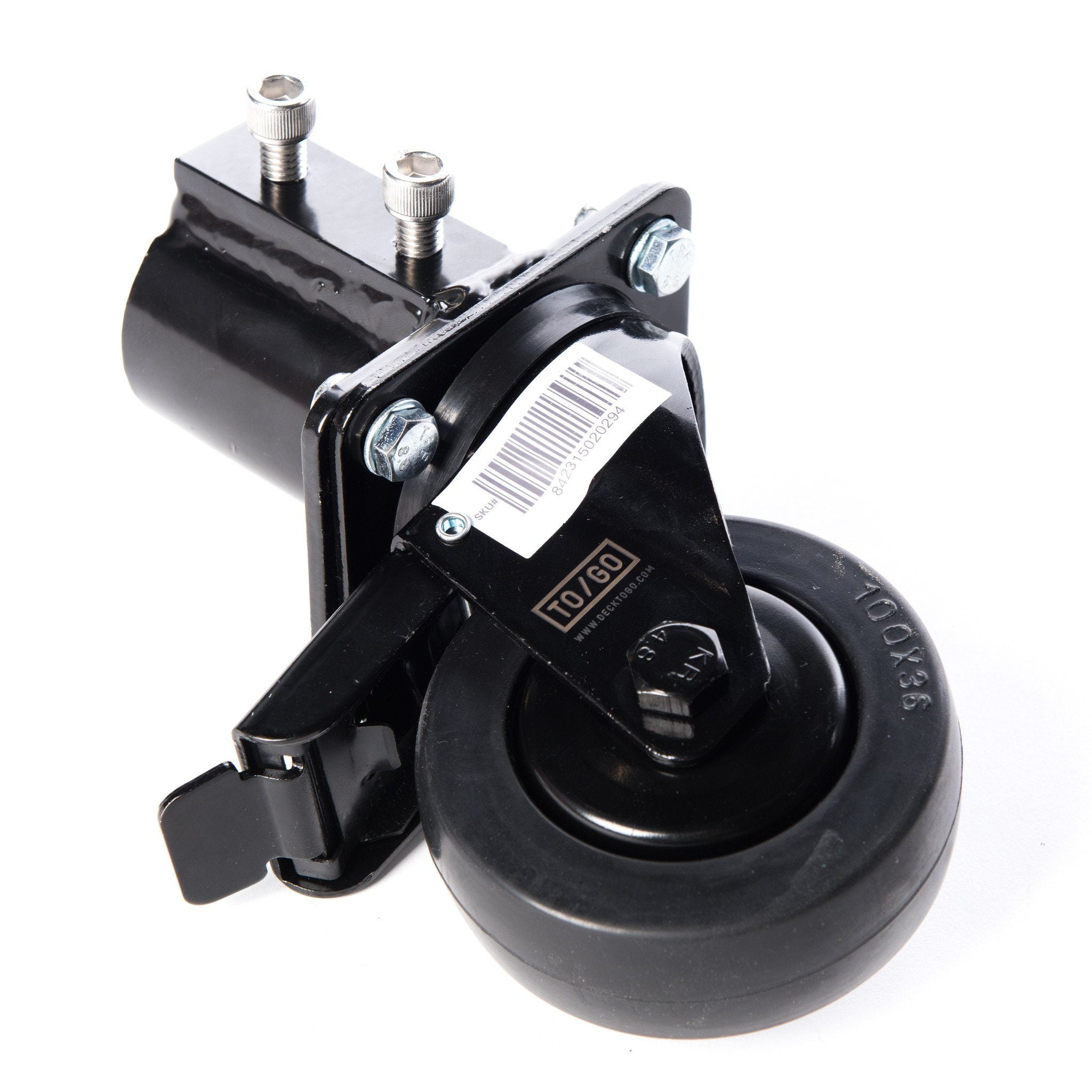 Black Wheel Bracket (includes wheel) Locking