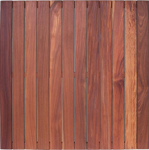 Wood Tiles - Cumaru Deck Tile ( Not Oiled, Pin Hole And Light Scratches Are Normal)