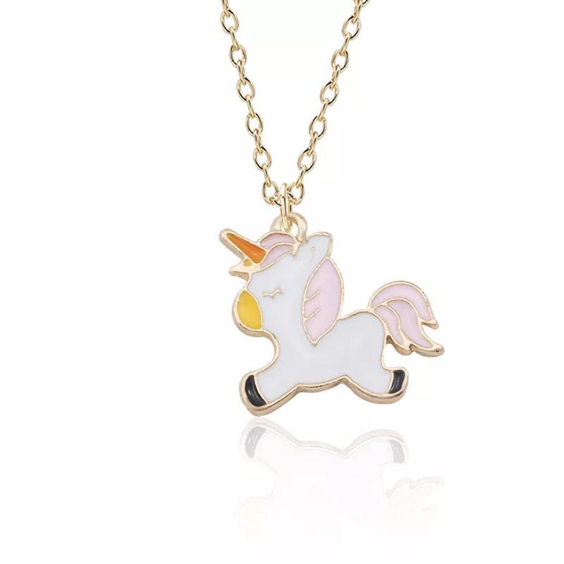 Peace Pink Unicorn Necklace
