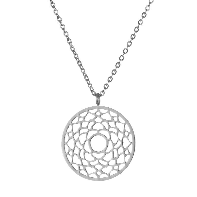 Crown Chakra Silver Stainless Steel Necklace