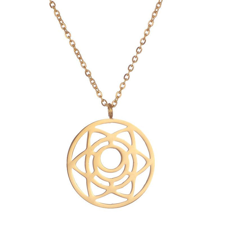 Sacral Chakra Rose Gold Stainless Steel Necklace
