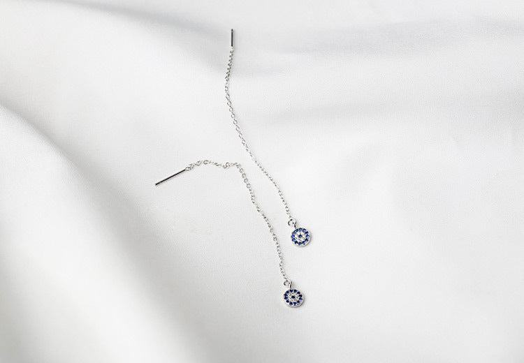 Classic Evil Eye Dangle Earrings with Cubic Zirconia Stones