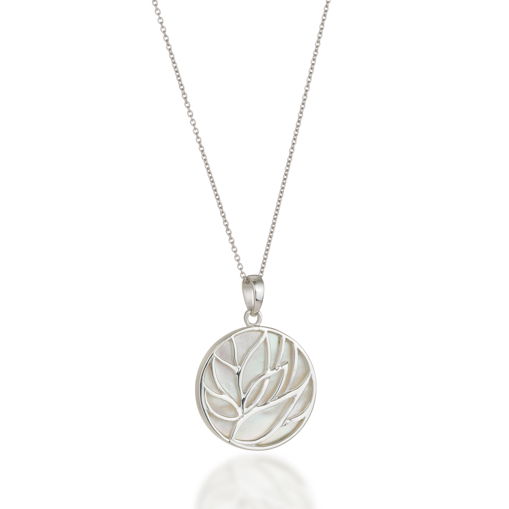 Lotus Mother of Pearl Necklace