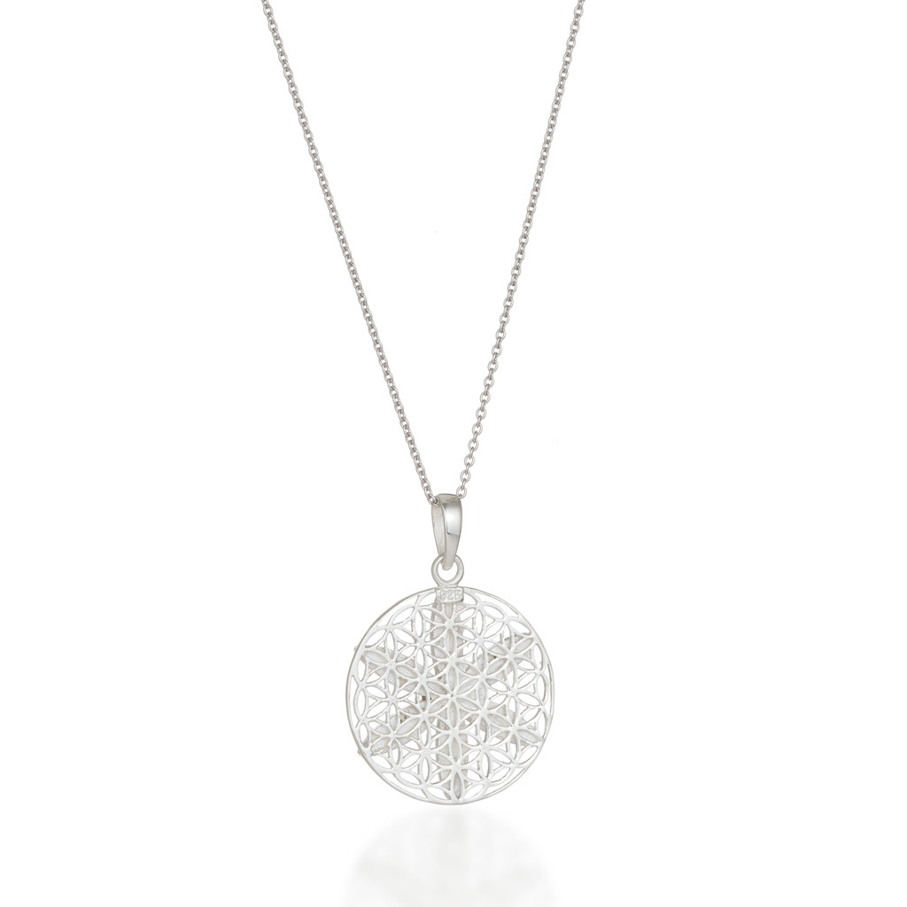 Seed of Life Mother of Pearl Necklace Back