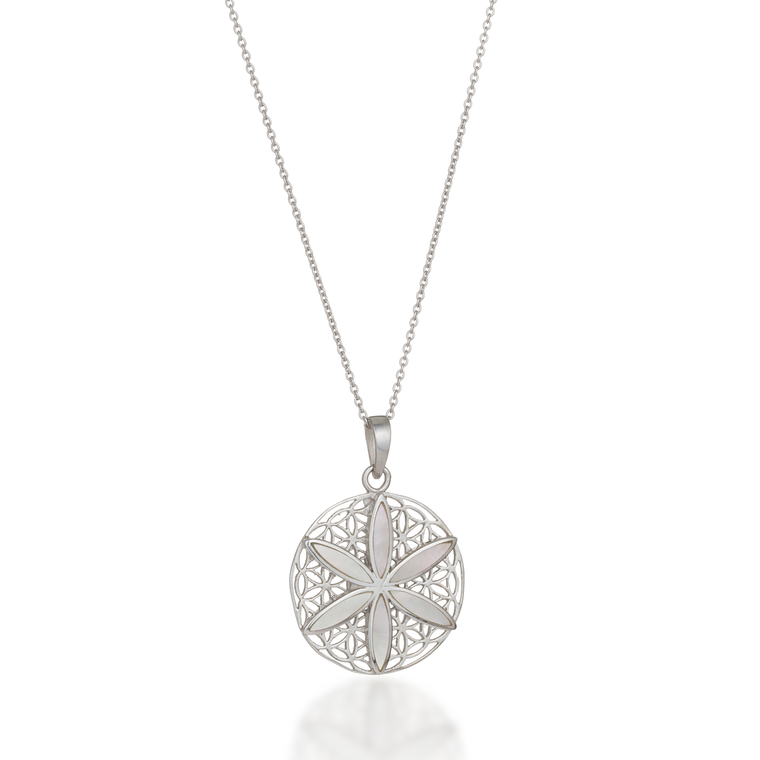 Seed of Life Mother of Pearl Necklace