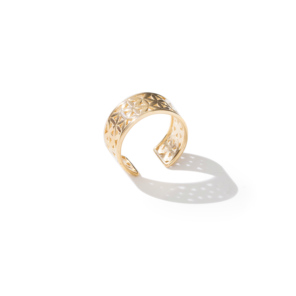 Flower of Life Classic Yellow Gold Ring