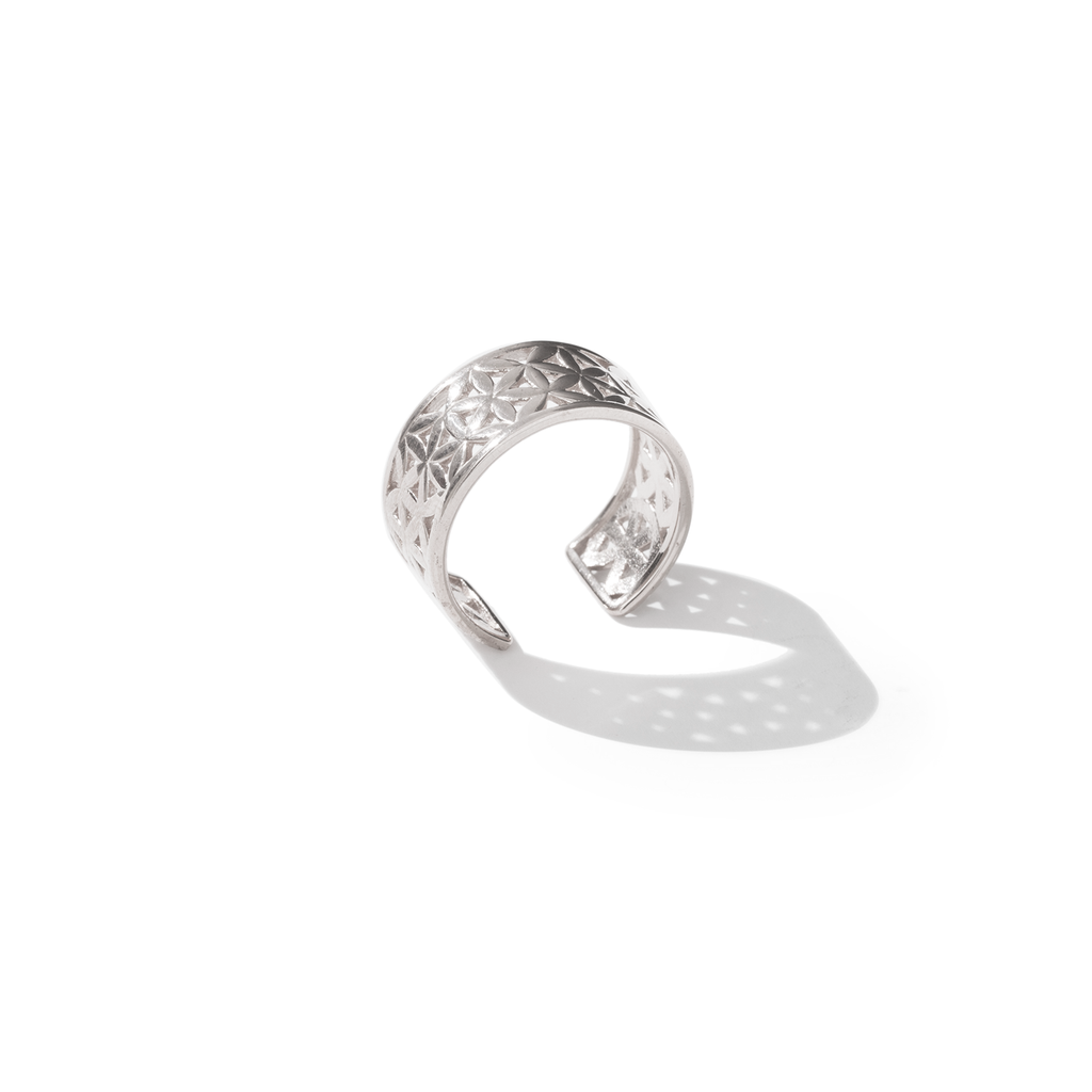 Flower of Life Classic Silver Ring