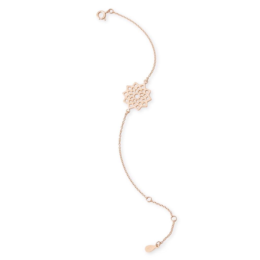 Crown Chakra Rose Gold Bracelet