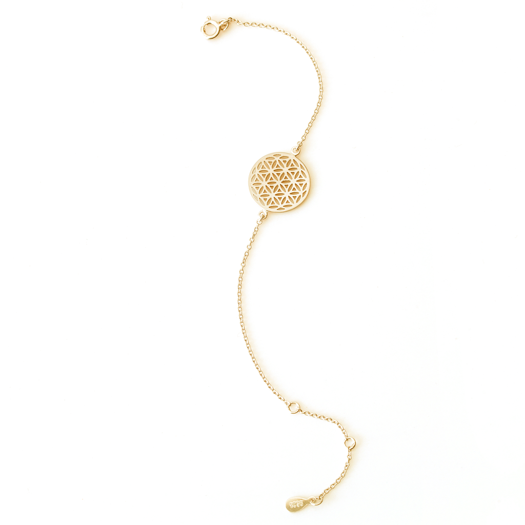 Flower of Life Gold Bracelet