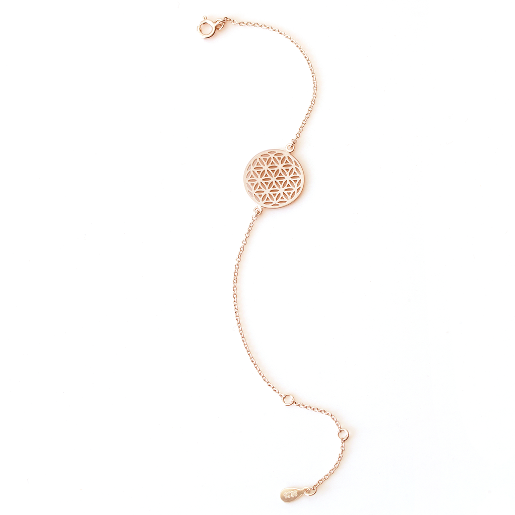Flower of Life Rose Gold Bracelet