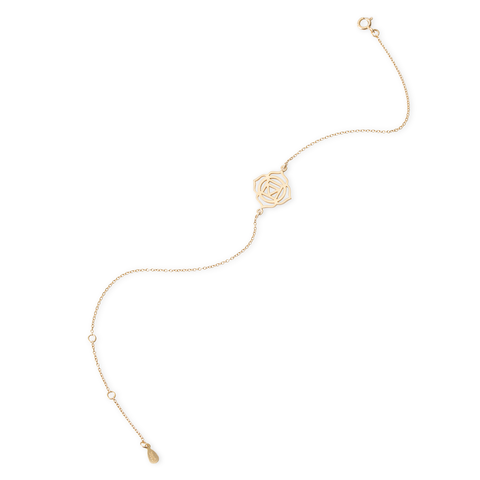 Root Chakra  Yellow Gold Anklet