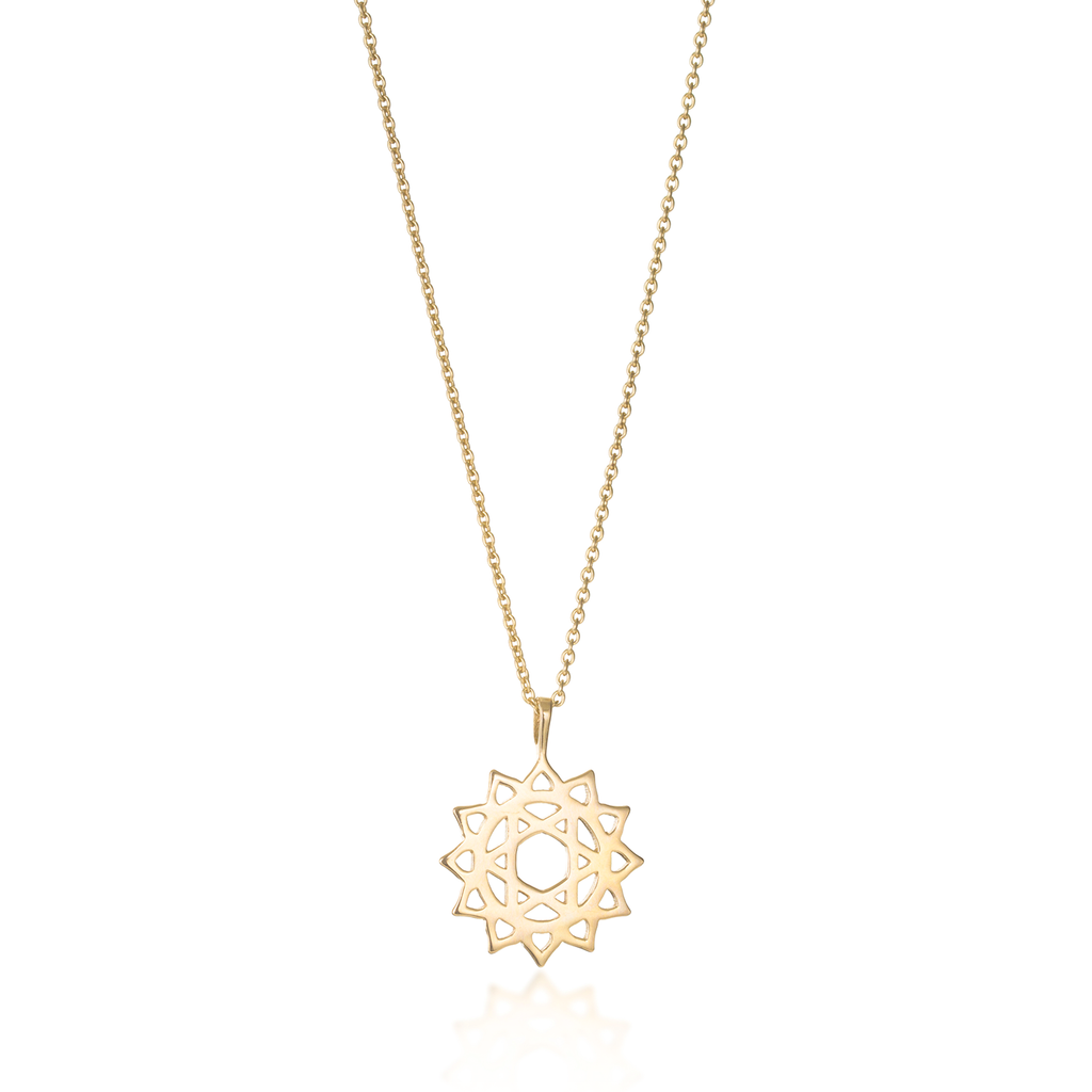 Heart Chakra Yellow Gold Necklace