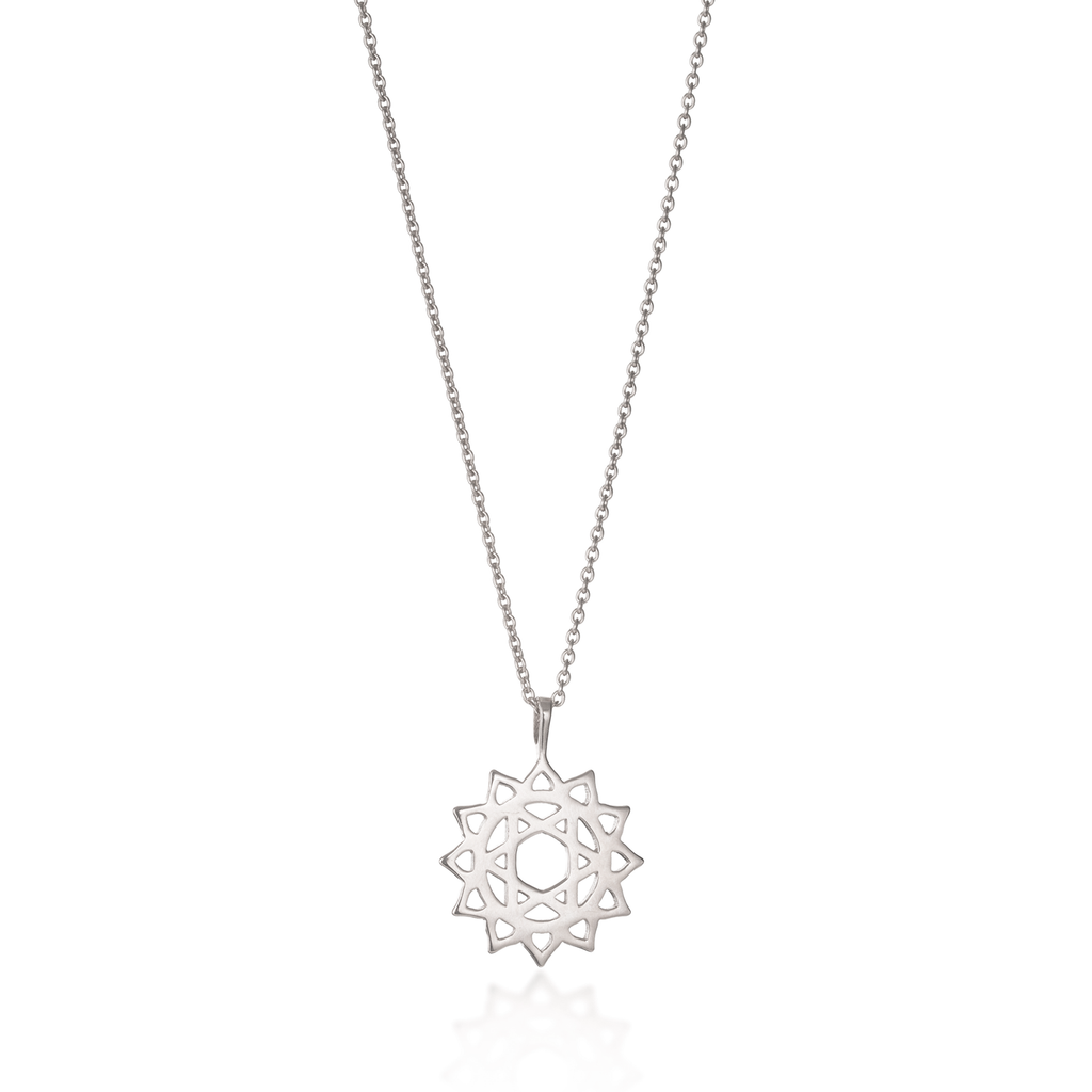 Heart Chakra Silver Necklace