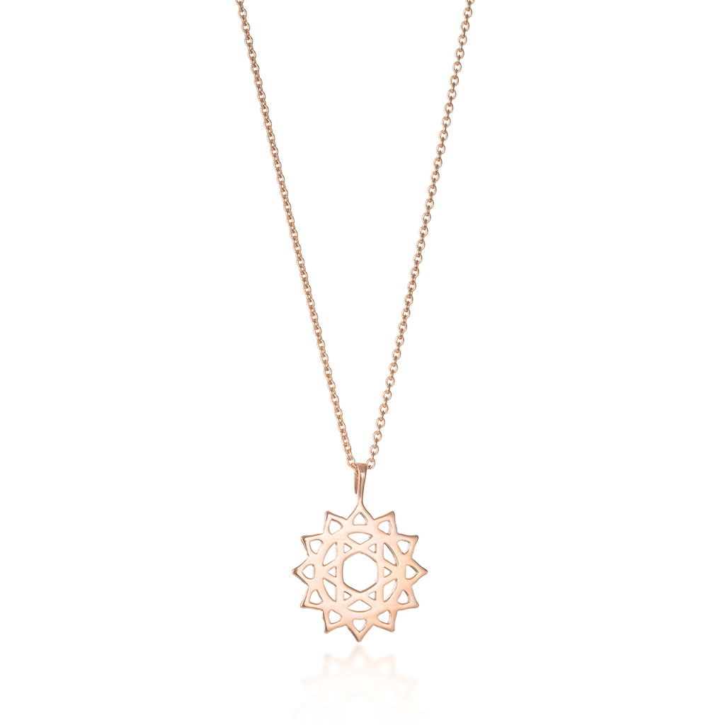 Heart Chakra Rose Gold Necklace