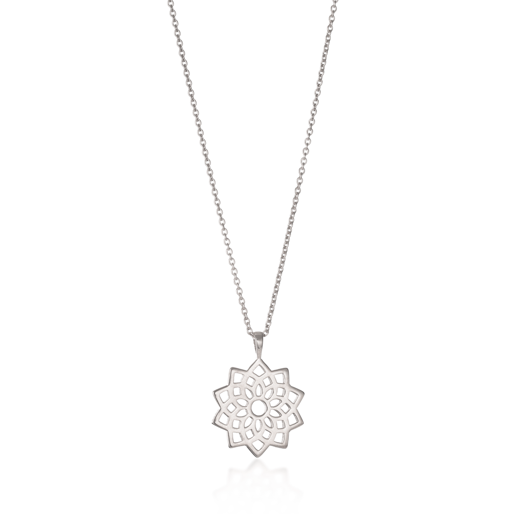 Crown Chakra Silver Necklace