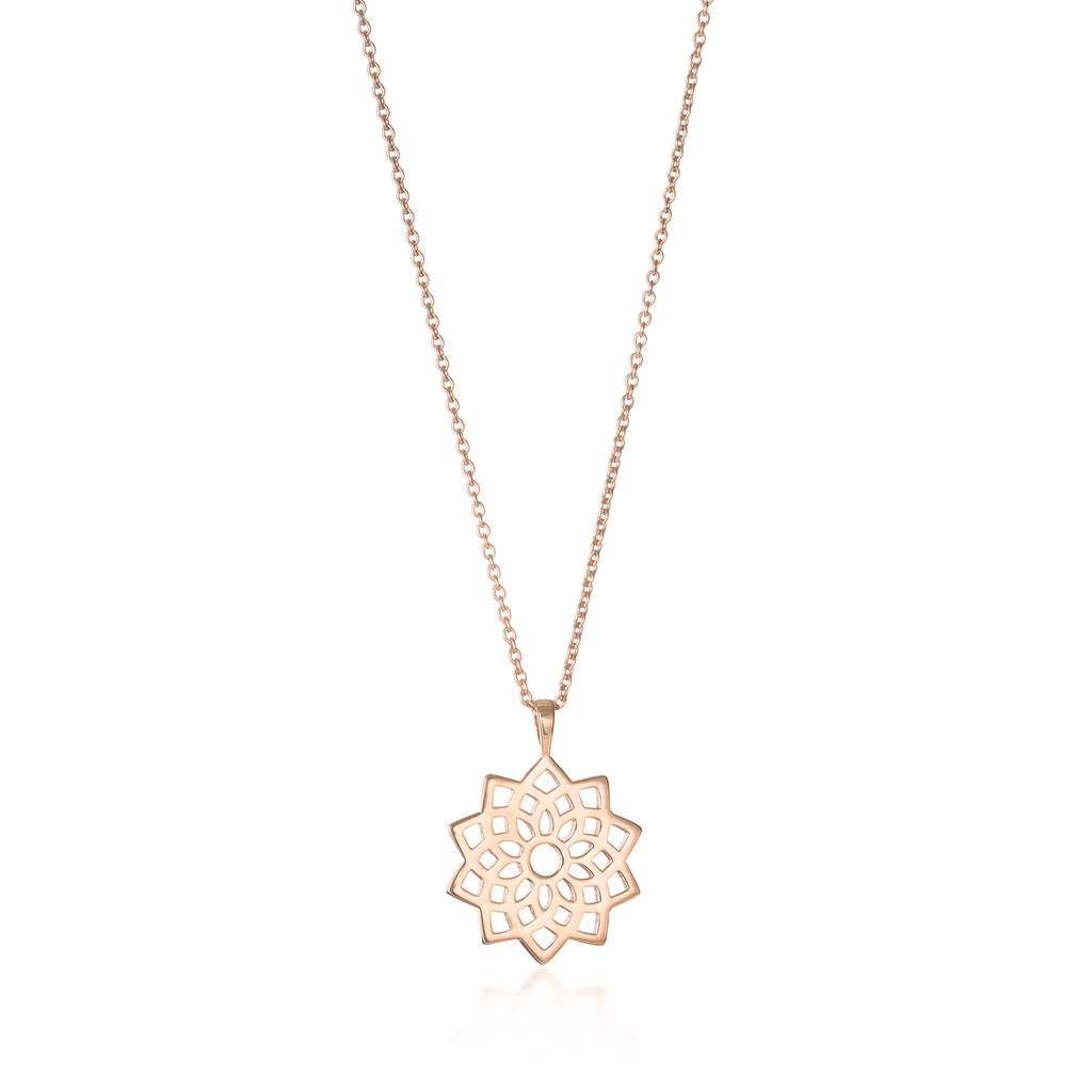 Crown Chakra Rose Gold Necklace