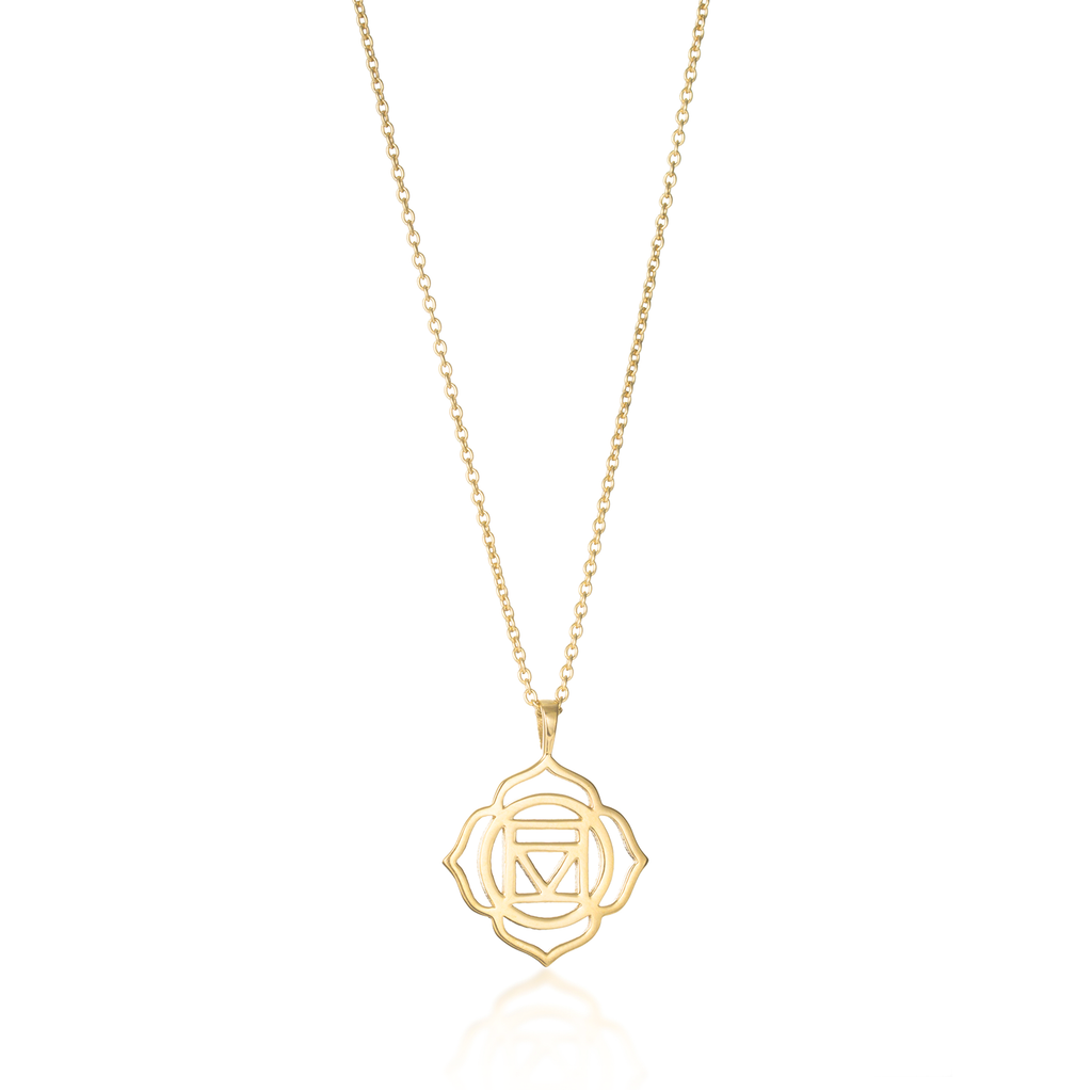 Root Chakra Yellow Gold Necklace