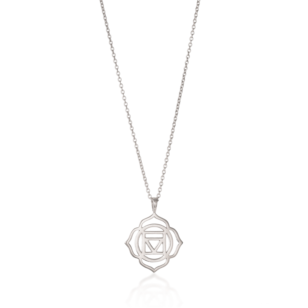 Root Chakra Silver Necklace