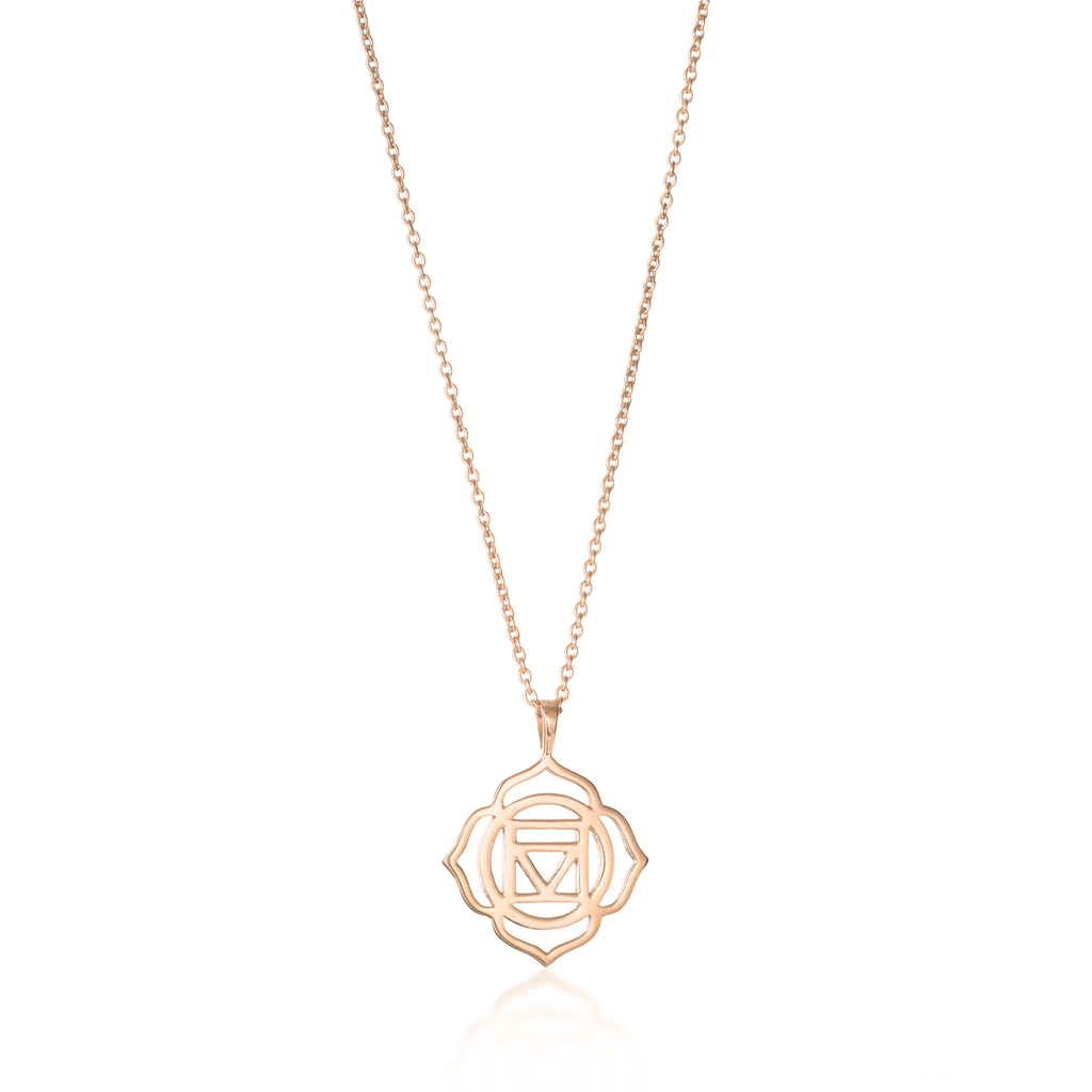 Root Chakra Rose Gold Necklace