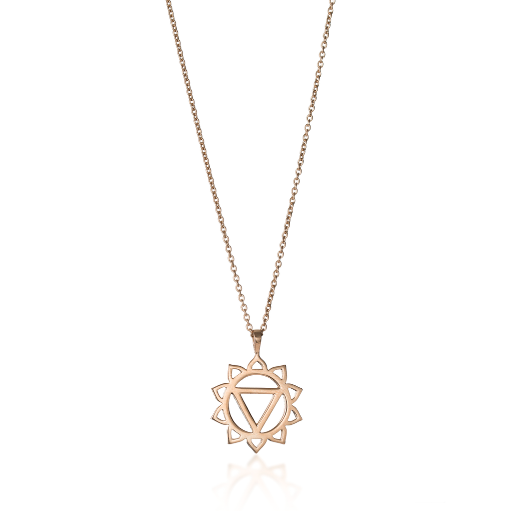Solar Plexus Chakra Rose Gold Necklace