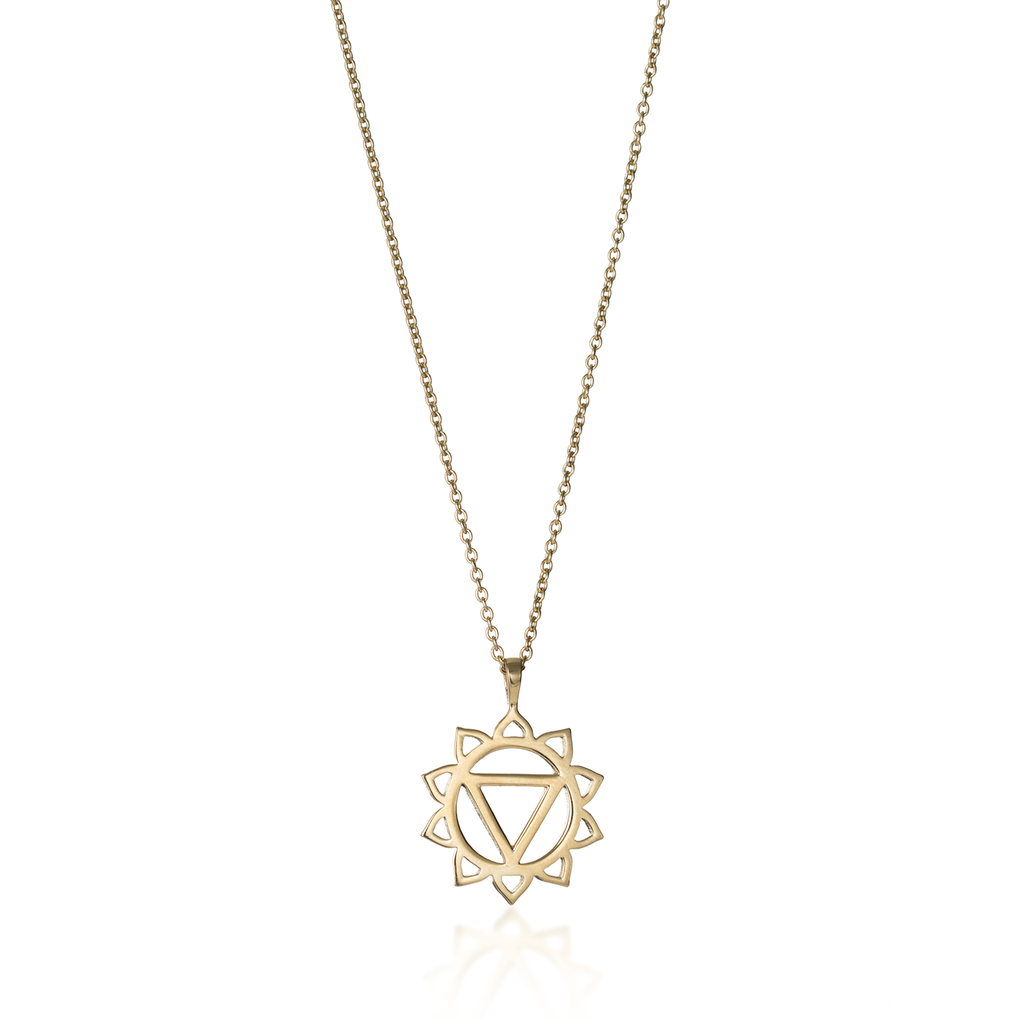 Solar Plexus Chakra Yellow Gold Necklace