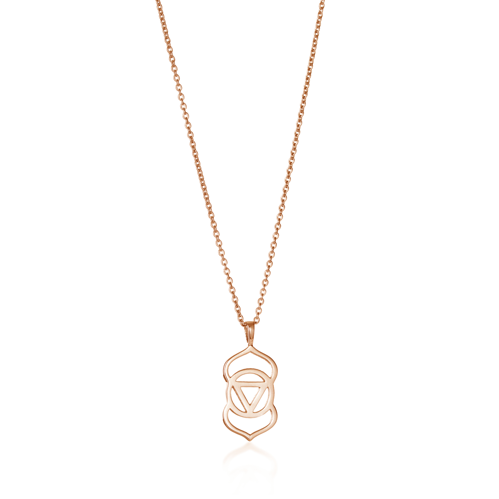Brow Chakra Rose Gold Necklace