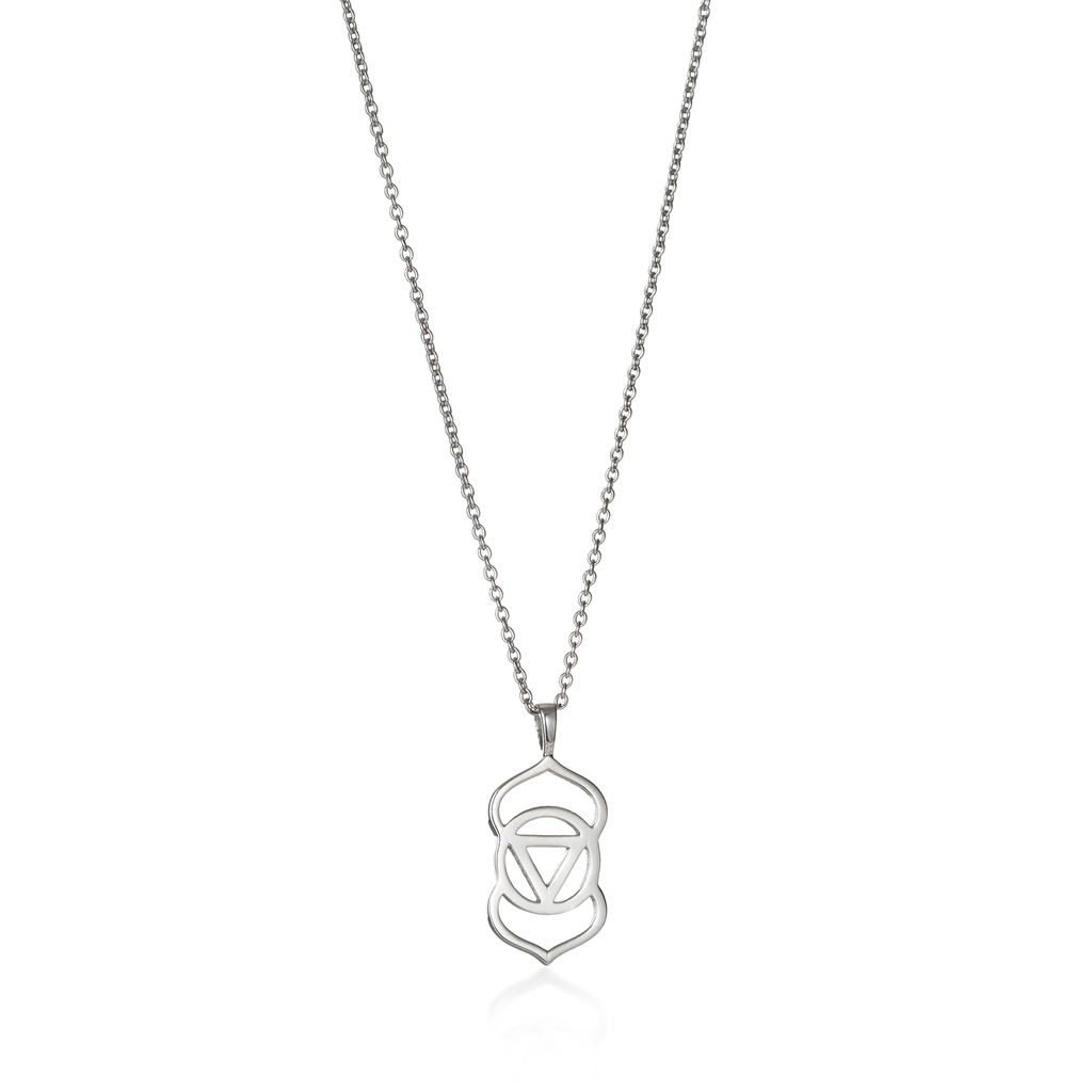 Brow Chakra Silver Necklace