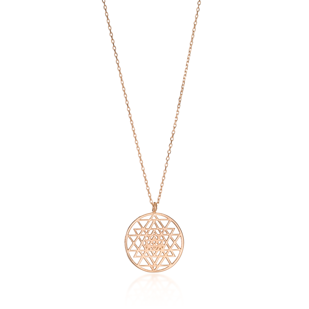 Sri Yantra Rose Gold Necklace