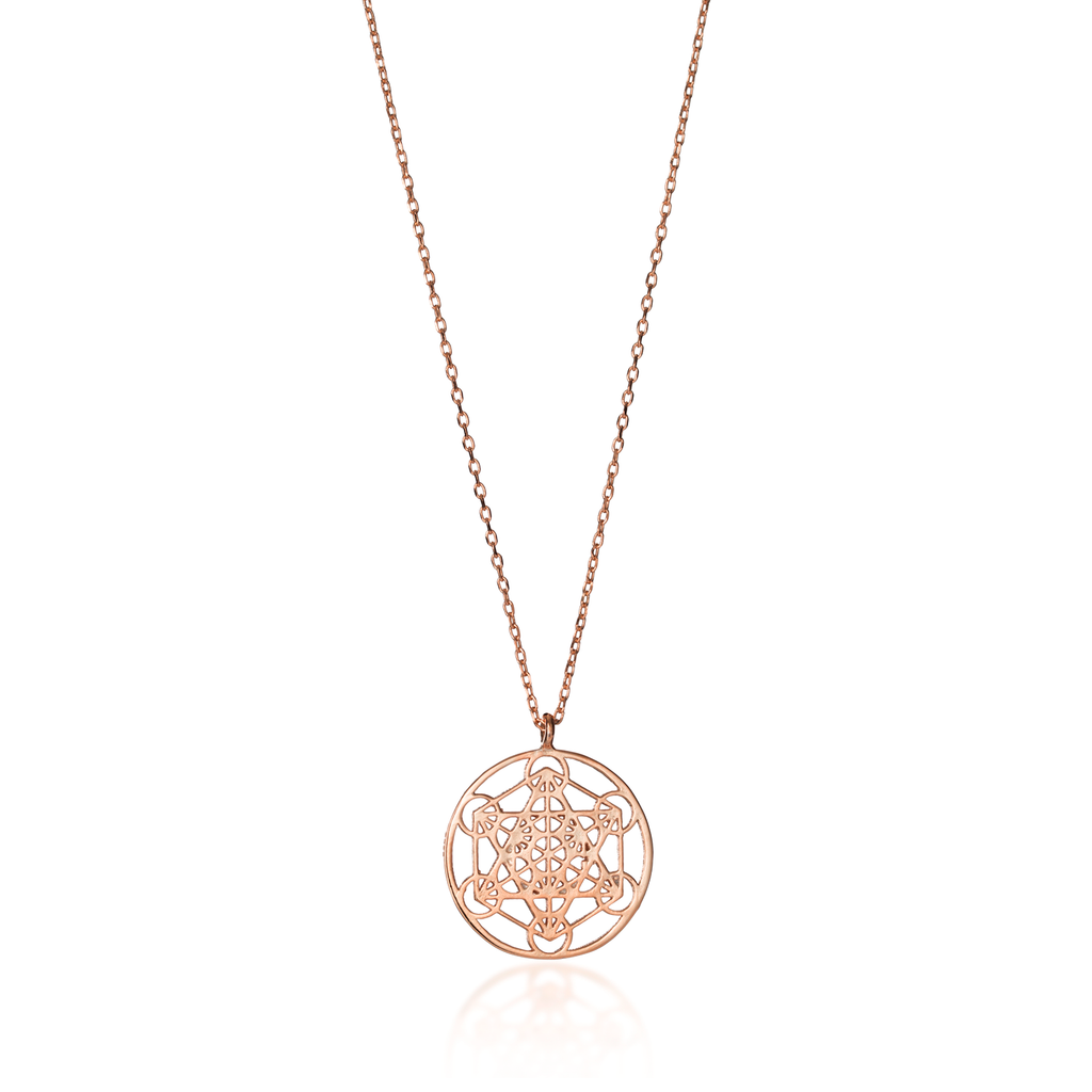 Metatron's Cube Rose Gold Necklace