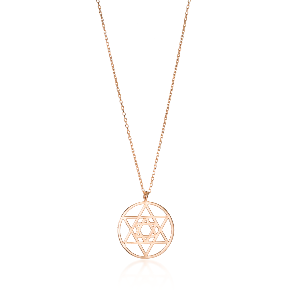 Star Of David Rose Gold Necklace