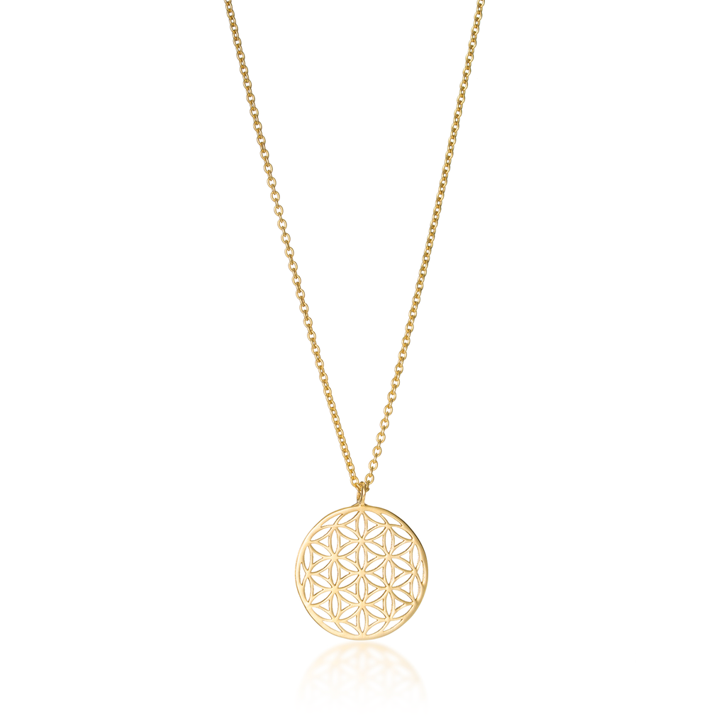 Flower of Life Classic Yellow Gold Necklace