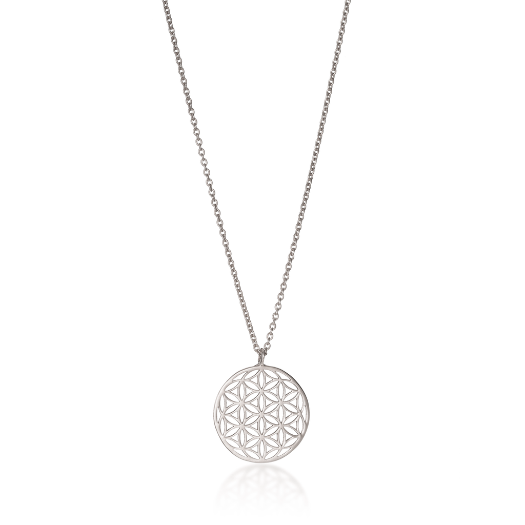 Flower of Life Classic Silver Necklace