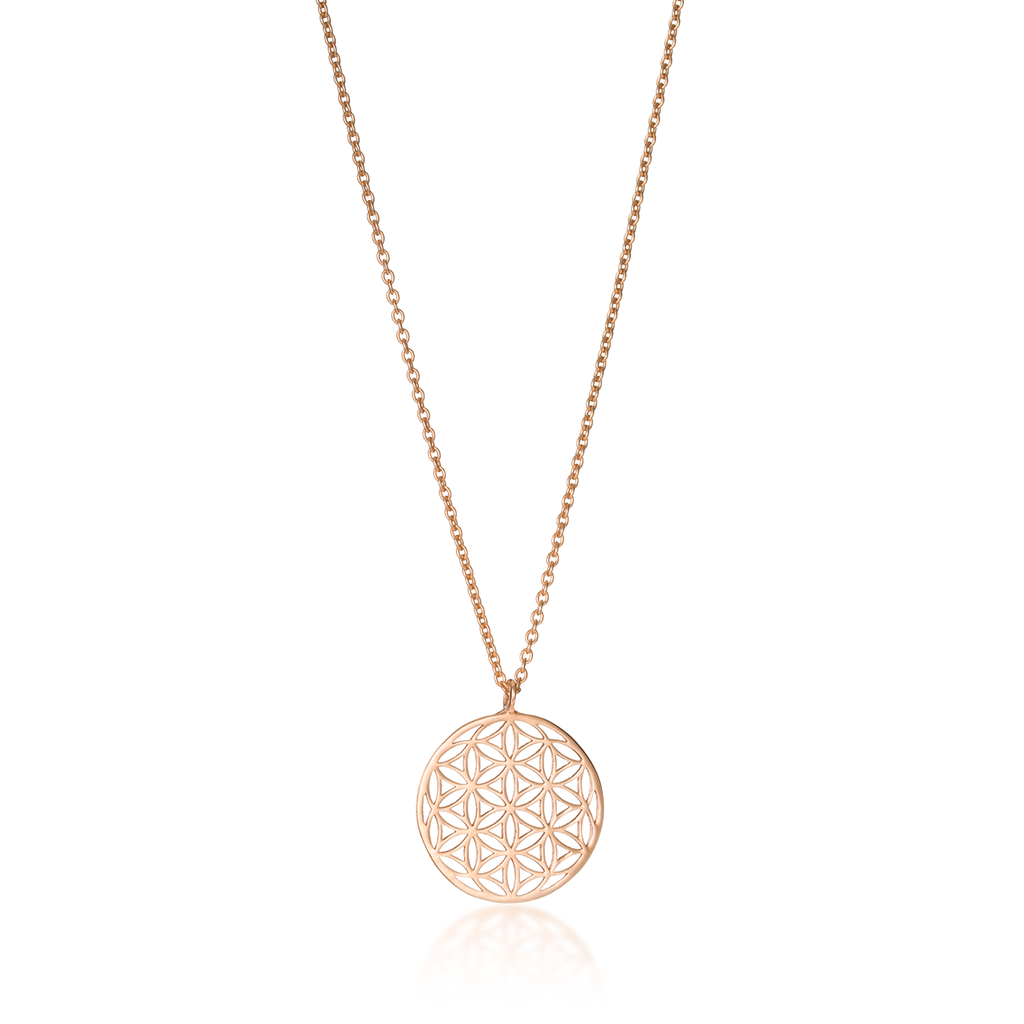 Flower of Life Classic Rose Gold Necklace