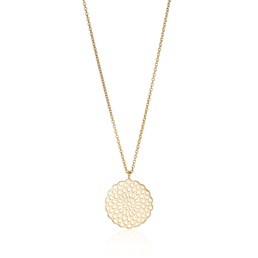 Sunflower Yellow Gold Necklace