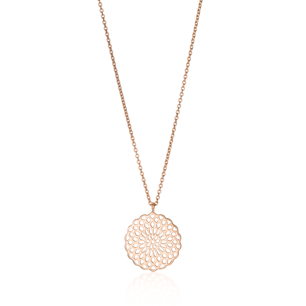 Sunflower Rose Gold Necklace