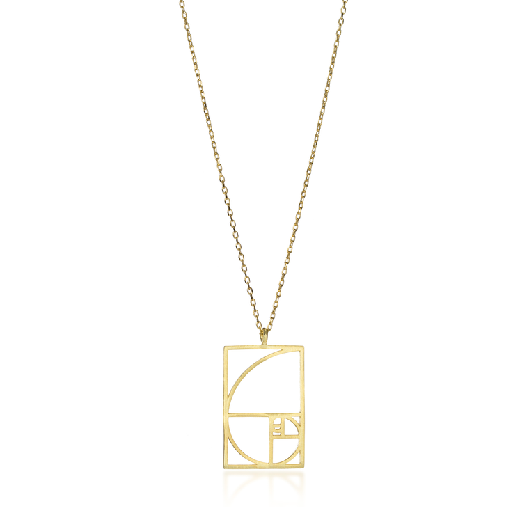 Golden Spiral Necklace