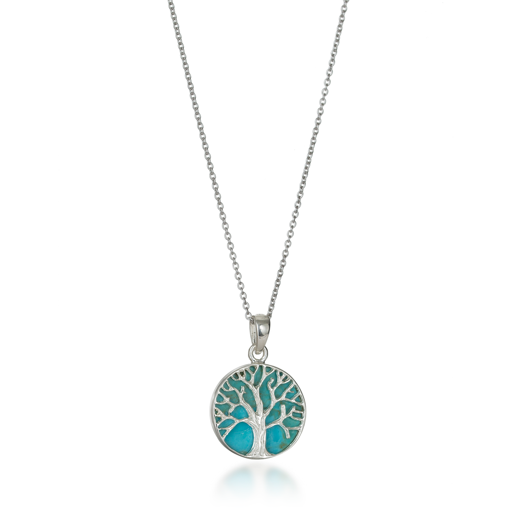 Tree Of Life Natural Turquoise Necklace