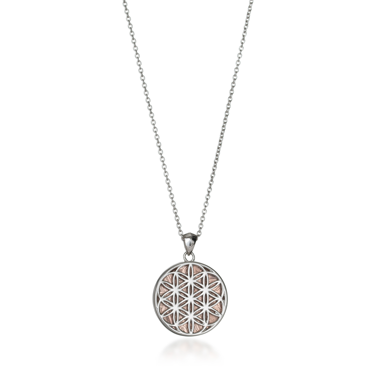 Meteorite Flower of Life Necklace
