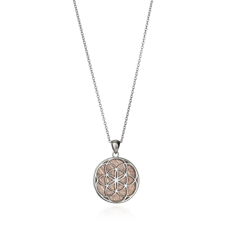 Seed of Life Meteorite Necklace